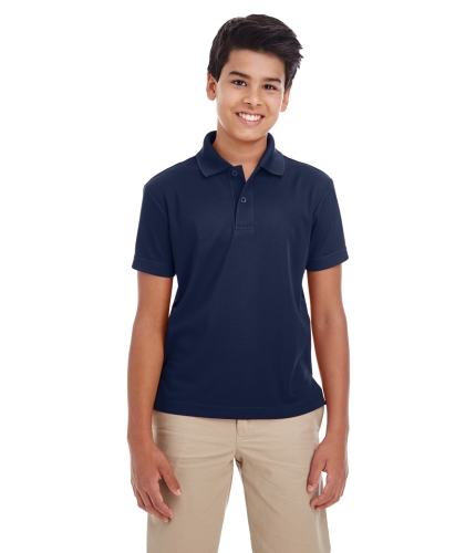 Core 365 88181Y Youth 100% Polyester Performance Polo