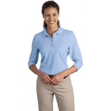 Port Authority L562 3/4 sleeve ladies Silk Touch Polo