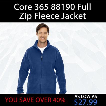 Core 365 88190 Full Zip Fleece Jacket